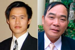 Thạc sĩ Nguyễn Tiến Trung (trái) và ông Vi Đức Hồi. RFA files photos