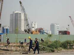 Một công trình xây dựng ở Hà Nội. RFA photo