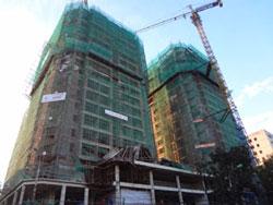 Một khu nhà đang xây dựng tại Hà Nội. RFA photo