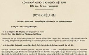 Đơn khiếu nại của bà Nguyễn Thị Thương ngày 22 tháng 3, 2012