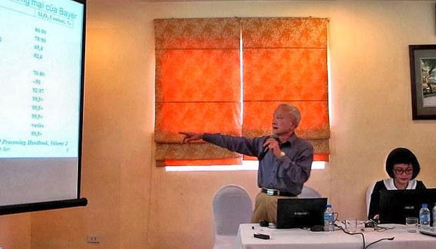 TS. Nguyễn Thành Sơn trình bày tại tọa đàm do Trung tâm Thiên nhiên và Con người (Pan Nature) tổ chức.