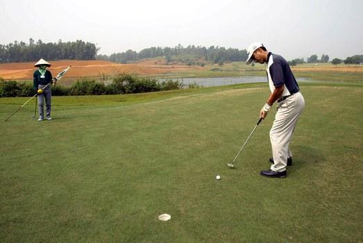 Sân golf Kings Island Đồng Mô, Sơn Đông, Sơn Tây, Hà Nội, Vietnam. Ảnh minh họa chụp trước đây.