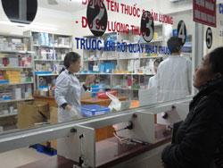 Nhà thuốc trong một bệnh viện tại Hà Nội hôm 05/10/2011. RFA PHOTO.