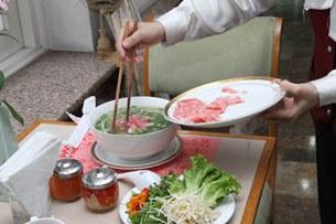 Phở bò Kobe tại một tiệm phở ở Hà Nội, ảnh chụp trước đây.
