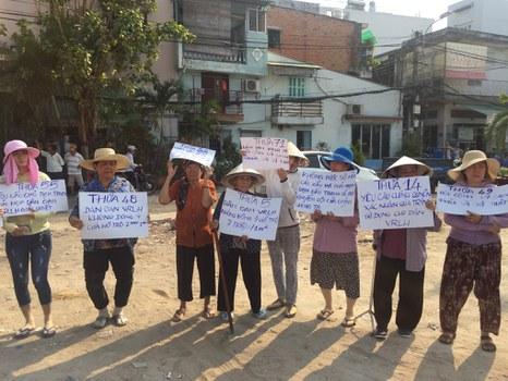 Cư dân Lộc Hưng yêu cầu được đối thoại với Chính quyền TP.HCM.