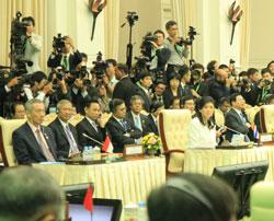 Thủ tướng các nước ASEAN tại Hội nghị Thượng đỉnh ASEAN hôm 19-11-2012 tại Campuchia. RFA photo/Quốc Việt.