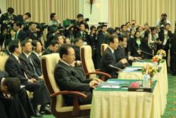 Thủ tướng Hàn Quốc, Trung Quốc và Nhật Bản tại Hội nghị Thượng đỉnh ASEAN+3 hôm 19-11-2012 tại Campuchia. RFA photo/Quốc Việt.