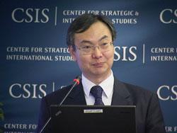 Giáo sư Su Hao, Phó giám đốc trung tâm nghiên cứu quốc tế thuộc trường đại học ngoại giao Trung Quốc tại Hội thảo an ninh biển Đông ở Washington ngày 20 tháng 6. RFA PHOTO.