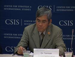 Ông Termsak Chalermpalanupap, Giám đốc Ban an ninh chính trị thuộc ban thư ký ASEAN tại Hội thảo an ninh biển Đông ở Washington ngày 20 tháng 6. RFA PHOTO.