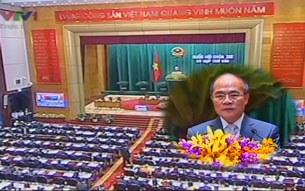 Chủ tịch Quốc hội Nguyễn Sinh Hùng phát biểu khai mạc kỳ họp