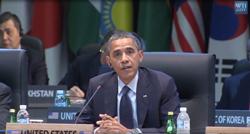 Tổng thống Barrack Obama nói chuyện trước Hội nghị thượng đình 2012. - RFA screenshot