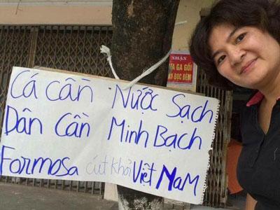 Bà Trần Thị Nga, ảnh chụp trước đây.