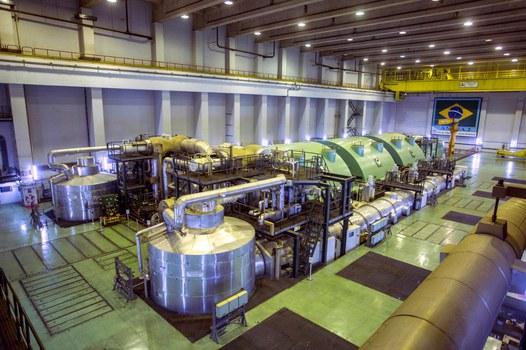 Một nhà máy điện hạt nhân ở Brazil.