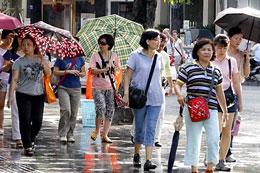 Du khách Trung Quốc trên đường phố Saigon năm 2013