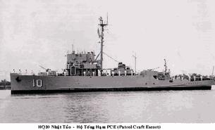 Hộ tống hạm VNCH HQ-10 dự trận Hoàng Sa 1974- Photo vietlist.com.us