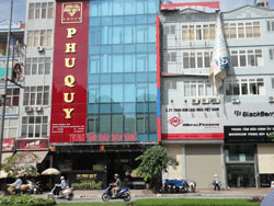 Một sàn giao dịch vàng tại Hà Nội, ảnh chụp hôm 24-07-2011. RFA PHOTO.