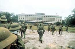 Đinh Độc Lập ngày 30/4/1975. Ảnh TL