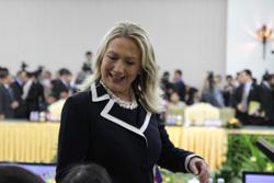 Ngoại trưởng Hillary Clinton tại Hội nghị Ngoại trưởng Đông Á. RFA/Quốc Việt