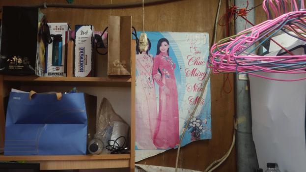 Bên trong căn nhà của mẹ con chị Nguyễn Thị Xuân Mai