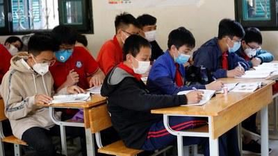 Hình minh hoạ. Học sinh tại một trường học ở Hà Nội hôm 31/1/2020