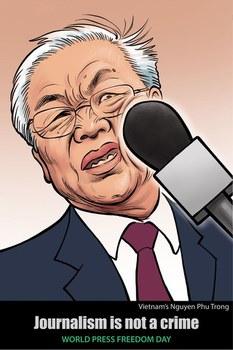 Tranh biếm họa về Tổng Bí thư Nguyễn Phú Trọng và tự do báo chí ở Việt Nam
