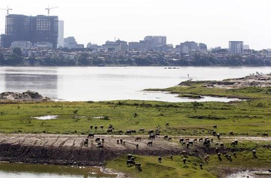 Hình minh hoạ. Sông Hồng ở Hà Nội