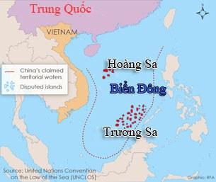 Bản đồ Quần đảo Trường Sa và Hoàng Sa.