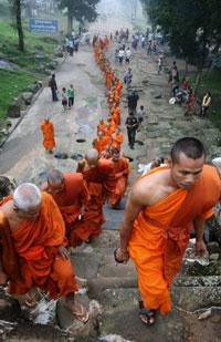 Đền Preah Vihear, nguyên nhân của cuộc tranh chấp biên giới.AFP photo