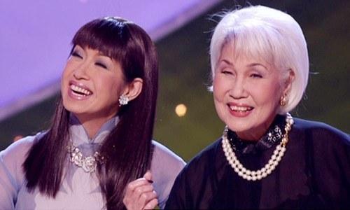 Danh ca Thái Thanh cùng con gái, ca sĩ  Ý Lan.