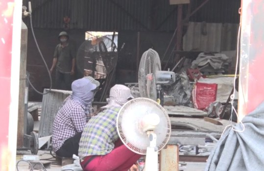 Công ty nhôm đúc Hoàng Anh ở xã Hải Vân, huyện Hải Hậu, tỉnh Nam Định.