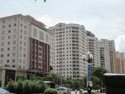 Cao ốc cho thuê ở Hà Nội. RFA photo