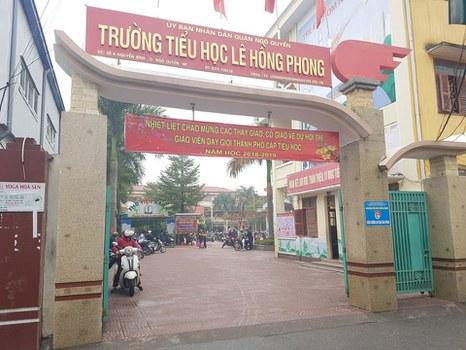 Ảnh minh họa: Tiểu học Lê Hồng Phong ở quận Ngô Quyền, thành phố Hải Phòng.