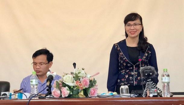 Phó giáo sư – Tiến sĩ  Nguyễn Thị Kim Phụng, Vụ trưởng Vụ Giáo dục đại học thuộc Bộ Giáo dục và Đào tạo.