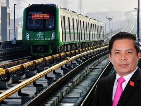 Ảnh minh họa: Dự án đường sắt Cát Linh - Hà Đông và Bộ trưởng Nguyễn Văn Thể.