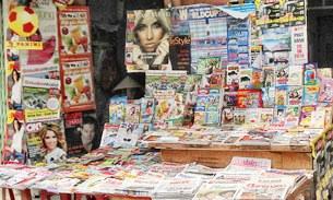 Một sạp báo ở TP HCM.