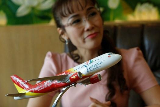 Hình minh hoạ. CEO hãng tư nhân Vietjet Air - Nguyễn Thị Phương Thảo trong một phỏng vân sở văn phòng tại TP Hồ Chí Minh - 10/1/2017
