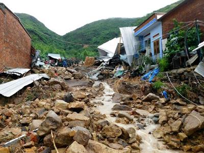 Hư hại do lũ quét ở phường Phước Đồng, Nha Trang hôm 18/11/2018