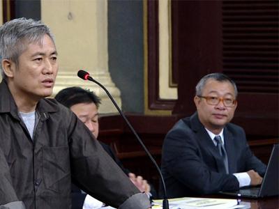 Phiên xử nhà hoạt động Lưu Văn Vịnh hôm 5/10/2018.