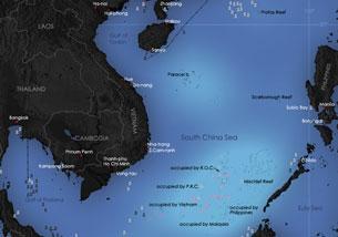 Khu vực biển đang có tranh chấp được gọi là Biẽn Đông Nam Á