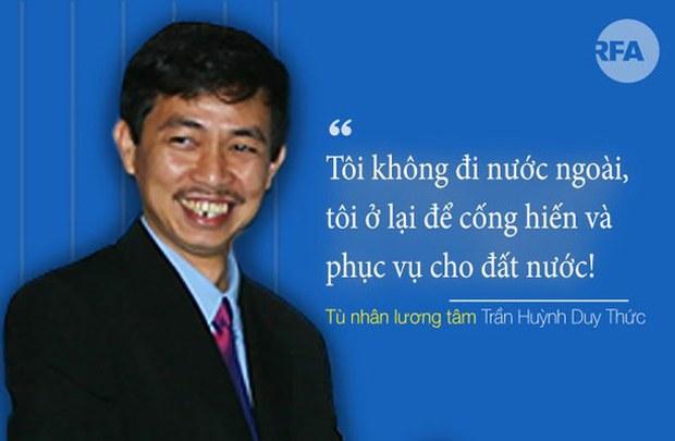 Tù nhân chính trị Trần Huỳnh Duy Thức và cuộc tuyệt thực có thể gần 40 ngày