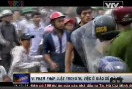 Hình ảnh vụ việc Mỹ Yên trên đài VTV1. Screen capture