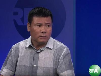 Blogger Trương Duy Nhất trong một lần phỏng vấn với Đài RFA ở Washington DC hồi năm 2016