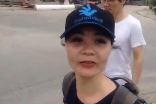 Nhà hoạt động Lê Mỹ Hạnh khi còn ở Việt Nam