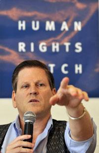 Ông Phil Robertson tại một cuộc họp báo ở Indonesia, ảnh chụp trước đây. AFP PHOTO.