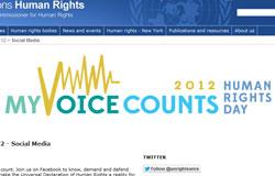 OHCHR giới thiệu cuộc hội thoại trực tuyến trên Google plus nhân ngày quốc tế nhân quyền 10 tháng 12