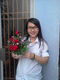 Sinh viên Nguyễn Phương Uyên, lúc chưa bị bắt. File photo.