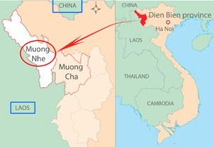 Bản đồ Mường Nhé, Điện Biên