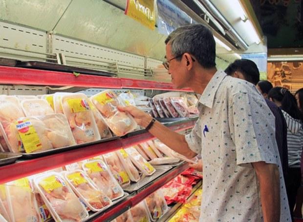 Đùi gà nhập khẩu của Mỹ hiện có mức giá thấp hơn nhiều so với các sản phẩm trong nước.(Ảnh minh họa).