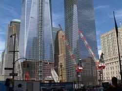 Trung tâm thương mại thế giới (WTC) đang được xây dựng lại, ảnh chụp 08/09/2011. RFA photo