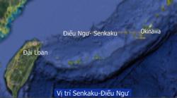 Vị trí Senkaku- Điếu Ngư - GoogleEarth modified map